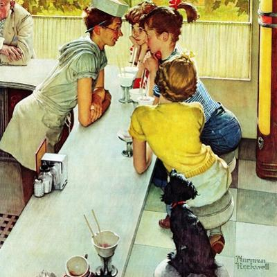 """""""Soda Jerk"""", August 22,1953 by Norman Rockwell"""
