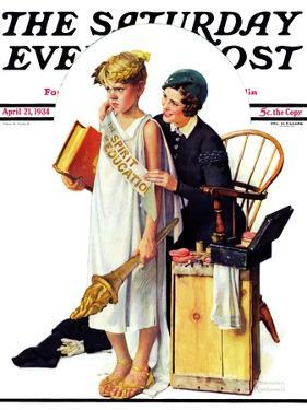 """""""Spirit of Education"""" Saturday Evening Post Cover, April 21,1934 by Norman Rockwell"""