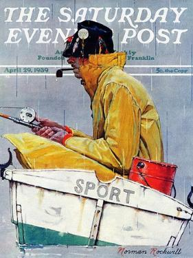 """Sport"" Saturday Evening Post Cover, April 29,1939 by Norman Rockwell"