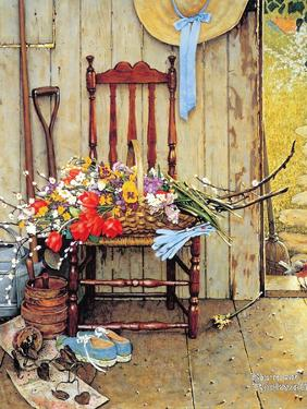 Spring Flowers by Norman Rockwell