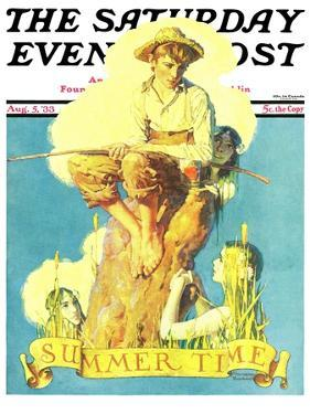 """Summertime, 1933"" Saturday Evening Post Cover, August 5,1933 by Norman Rockwell"