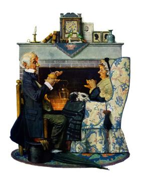 """Tea for Two"" or ""Tea Time"", October 22,1927 by Norman Rockwell"