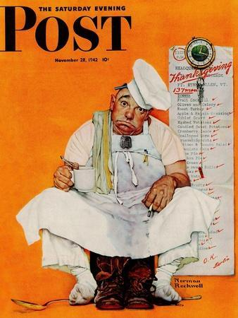 """""""Thanksgiving Day Blues"""" Saturday Evening Post Cover, November 28,1942"""