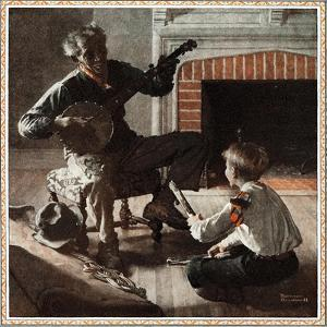 The Banjo Player by Norman Rockwell