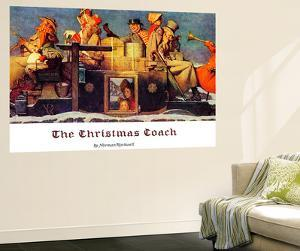 """The Christmas Coach"", December 28,1935 by Norman Rockwell"