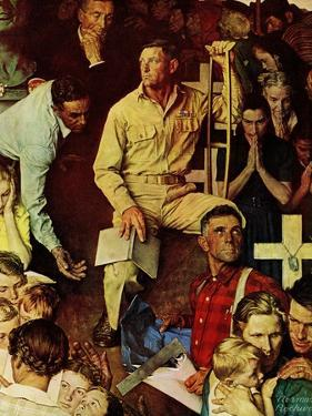 """The Long Shadow of Lincoln"", February 10,1945 by Norman Rockwell"