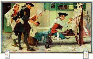 """The New Tavern Sign"", February 22,1936 by Norman Rockwell"