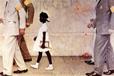 The Problem We All Live With (or Walking to School--Schoolgirl with U.S. Marshals)