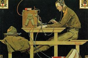 The U.S. Army Teaches Trades (or The Telegrapher) by Norman Rockwell