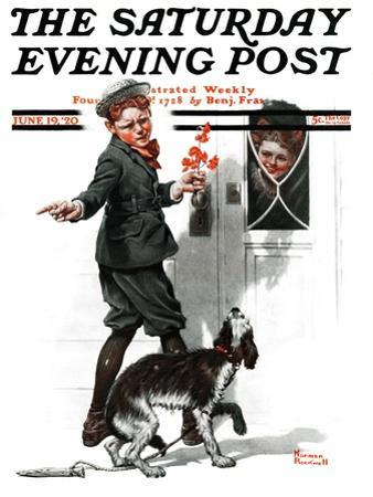 """""""Three's Company"""" Saturday Evening Post Cover, June 19,1920 by Norman Rockwell"""