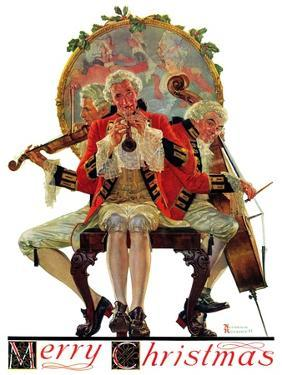 """""""Three Victorian Musicians"""", December 12,1931 by Norman Rockwell"""