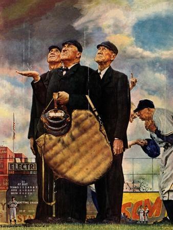 Tough Call - Bottom of the Sixth (Three Umpires), April 23, 1949