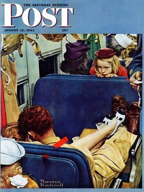 """Travel Experience"" Saturday Evening Post Cover, August 12,1944 by Norman Rockwell"