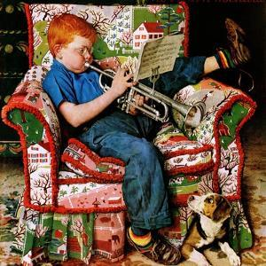 """Trumpeter"", November 18,1950 by Norman Rockwell"