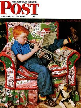 """""""Trumpeter"""" Saturday Evening Post Cover, November 18,1950 by Norman Rockwell"""