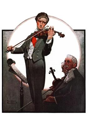 """Violin Virtuoso"", April 28,1923 by Norman Rockwell"