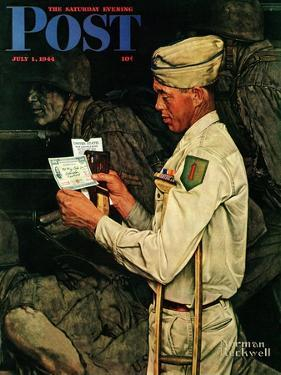 """War Bond"" Saturday Evening Post Cover, July 1,1944 by Norman Rockwell"