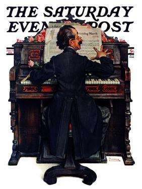 """""""Wedding March"""" Saturday Evening Post Cover, June 23,1928 by Norman Rockwell"""