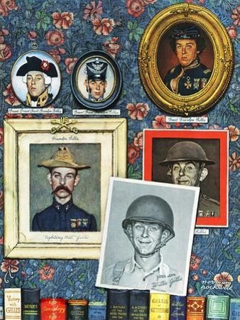 """""""Willie Gillis Generations"""", September 16,1944 by Norman Rockwell"""