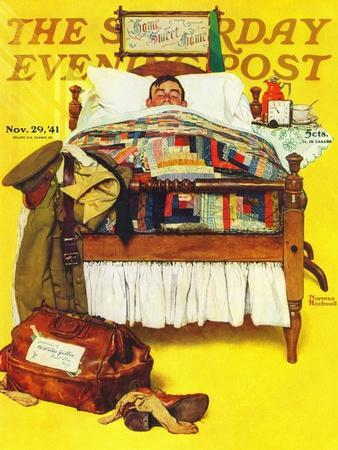 """""""Willie Gillis Home on Leave"""" Saturday Evening Post Cover, November 29,1941"""