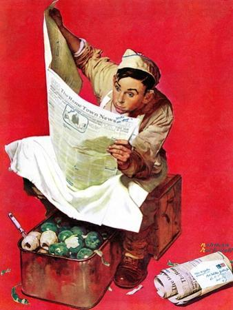 """""""Willie Gillis on K.P"""", April 11,1942 by Norman Rockwell"""