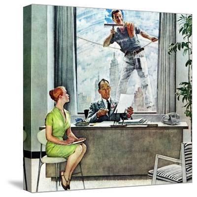 """""""Window Washer"""", September 17,1960 by Norman Rockwell"""