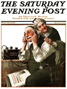 """Wonders of Radio"" or ""Listen, Ma!"" Saturday Evening Post Cover, May 20,1922 by Norman Rockwell"
