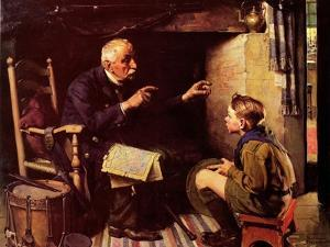 Youth and Old Age by Norman Rockwell
