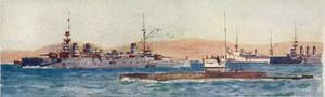 British Sub at Gallipoli by Norman Wilkinson