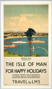 Isle of Man for Happy Holidays, LMS, c.1923-1947 by Norman Wilkinson