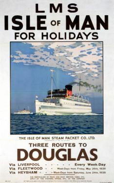 Isle of Man for Holidays, LMS, c.1923-1947 by Norman Wilkinson