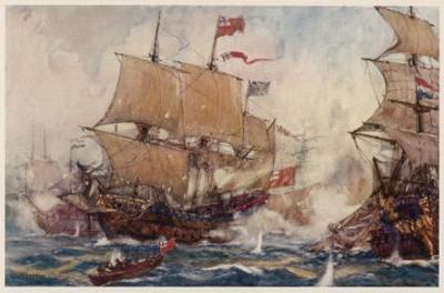 Naval Combats of the 17 and 18th Centuries Involve Numbers of Ships