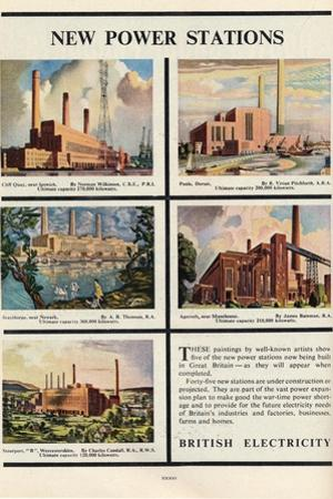 New Power Stations, Advert for British Electricity, 1951