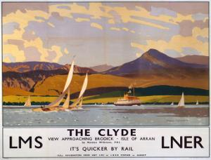 The Clyde, LMS/LNER, c.1923-1947 by Norman Wilkinson