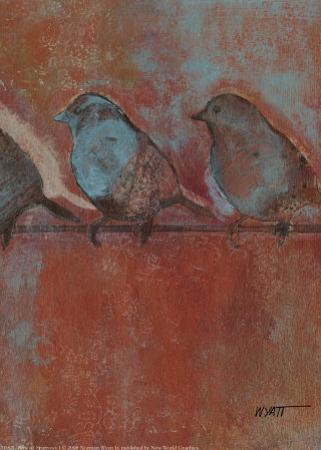 Row of Sparrows I by Norman Wyatt Jr.