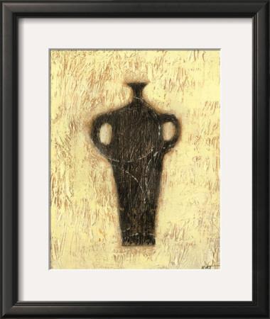 Woodcut Ebony Vase I by Norman Wyatt Jr.