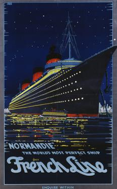 Normandie, French Line, 1939