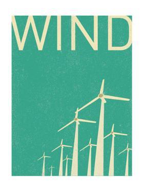 Retro Wind Turbines Illustration by norph