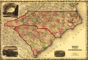 North And South Carolina - Panoramic Map