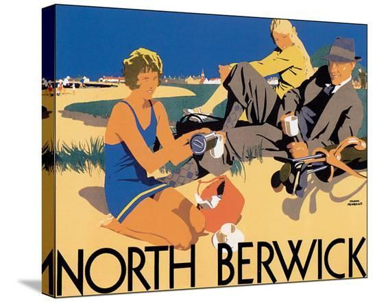 North Berwick-Frank Newbould-Stretched Canvas