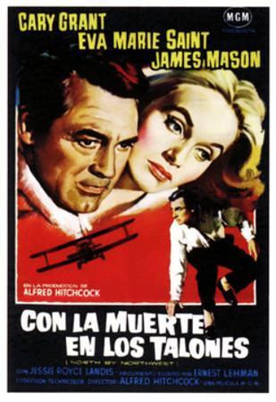 North by Northwest, (aka Con La Muerte En Los Talones), Spanish Poster Art, 1959