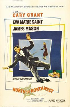 North by Northwest, Cary Grant, Eva Marie Saint on Poster Art, 1959