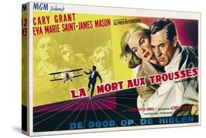 North by Northwest, Eva Marie Saint, Cary Grant on Belgian Poster Art, 1959