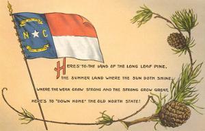 North Carolina Flag and Poem