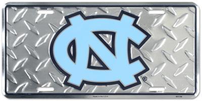 North Carolina Tar Heels Diamond License Plate
