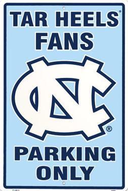 North Carolina Tar Heels Parking Only