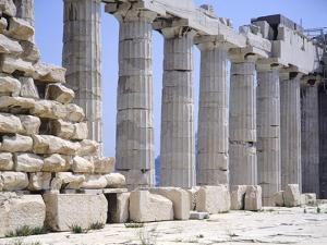 North Colonnade of Parthenon at Acropolis in Athens