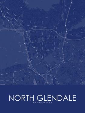 North Glendale, United States of America Blue Map