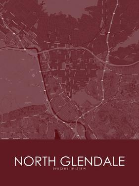 North Glendale, United States of America Red Map