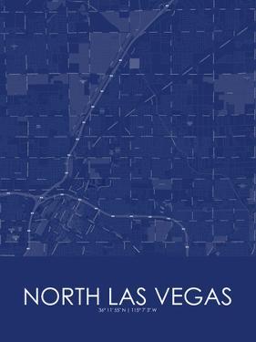 North Las Vegas, United States of America Blue Map